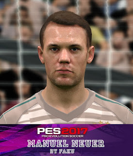 PES 2017 Faces Manuel Neuer by Faku