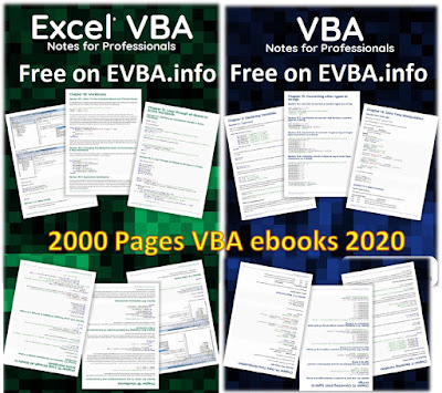 [Free Ebook] VBA Notes for Professionals 2021