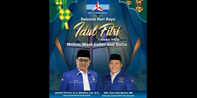 Sebar Poster Lebaran, Moeldoko Dan Jhoni Allen Marbun Tabrak Etika Politik