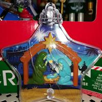 Silent Night motion detect Star Baby Jesus ornament