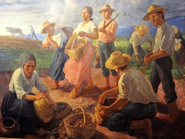 昔のコロンビアの農村部の農民たち
