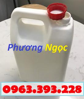 Can nhựa 5 Lít, can đựng hóa chất, can nhựa HDPE nguyên sinh