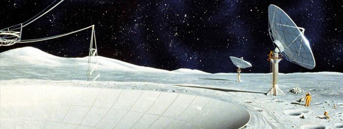 telescopio no lado oculto da lua