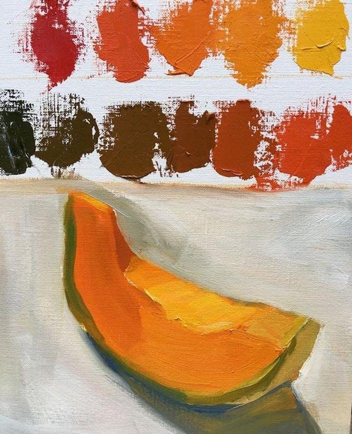 Lettuce Cantaloupe And Hanging Apple Modern Art