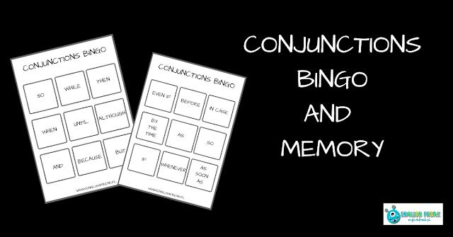Conjunctions Bingo and Memory - Angielskie Spójniki