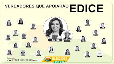 Conheça os vereadores que estão apoiando Edice