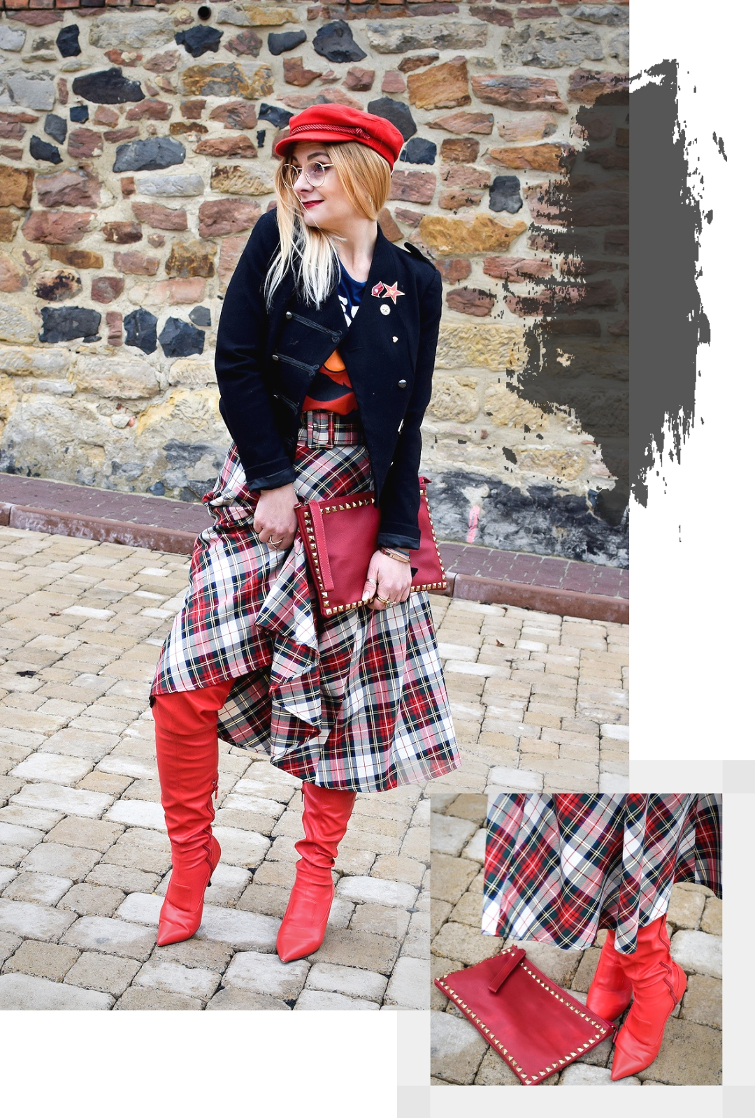 Outfit mit Rot, Rot richtig stylen