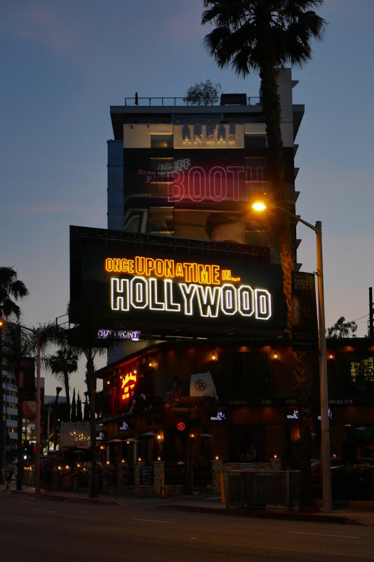 Once Upon a Time in Hollywood neon sign billboard