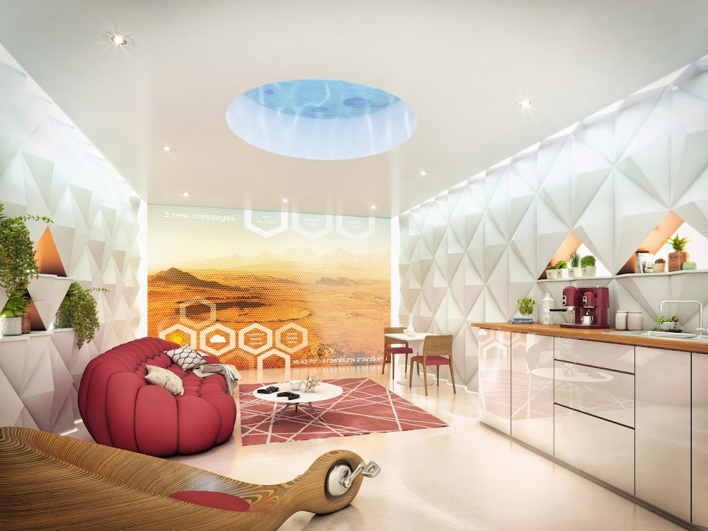 Mars apartment interior (The Sun)