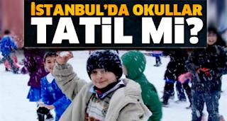 istanbul da okullar tatil mi?, istanbul da kar tatili var mı?