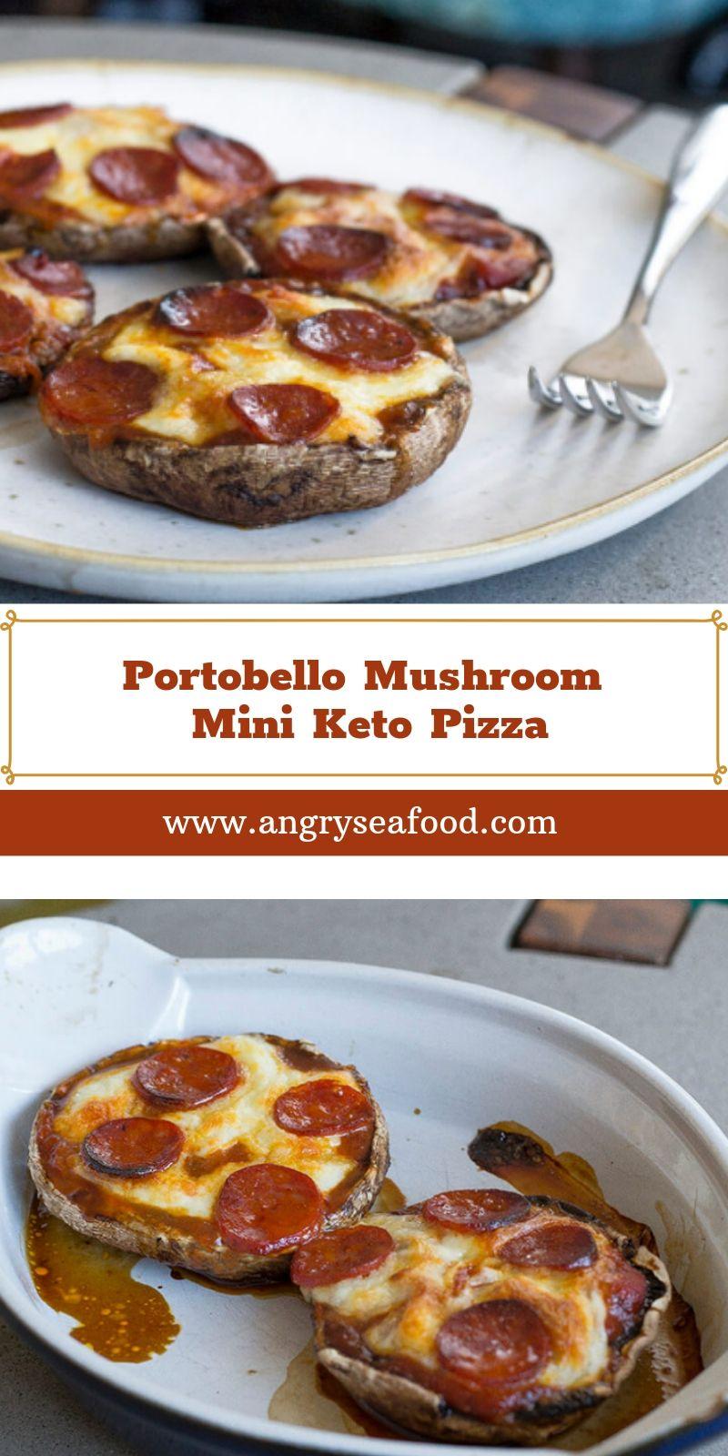 Portobello Mushroom Mini Keto Pizza
