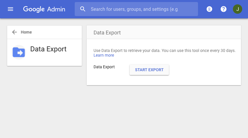 G Suite Updates Blog: Export all your G Suite data in one step