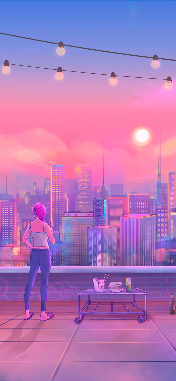 Artistic City Mobile wallpaper