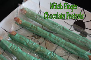 Witch Finger Chocolate Pretzels by KandyKreations