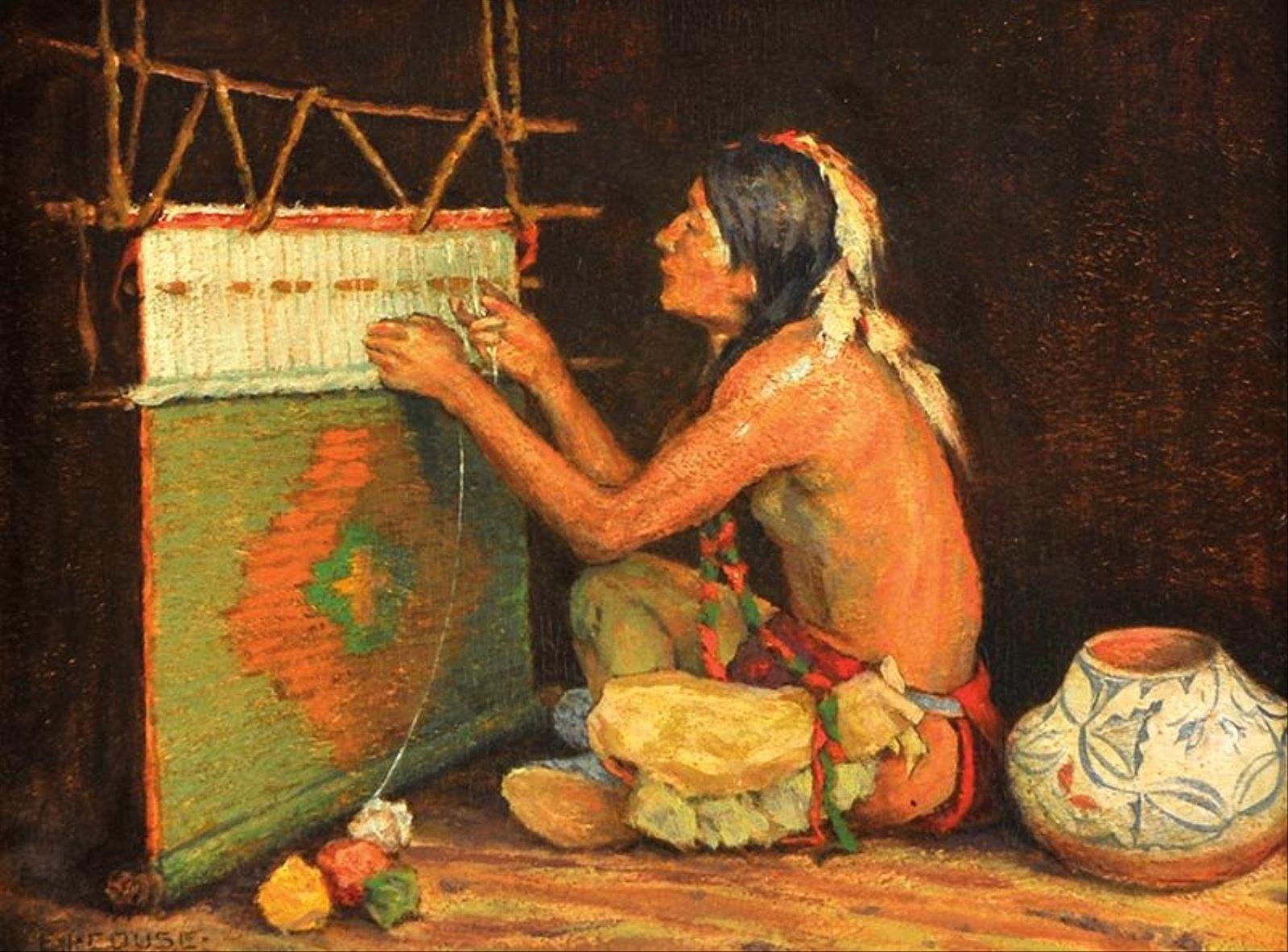 Eanger  Irving  Couse  The  Weaver