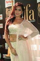 Prajna Actress in bhackless Cream Choli and transparent saree at IIFA Utsavam Awards 2017 028.JPG