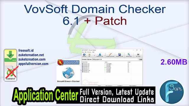 VovSoft Domain Checker 6.1 + Patch