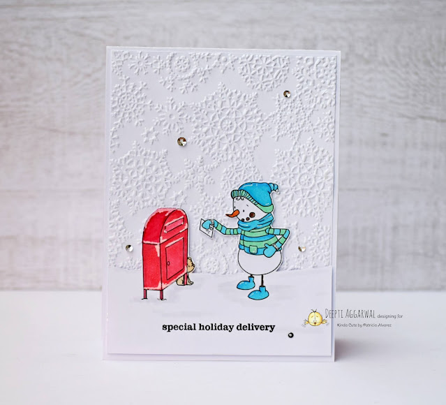 Embossed Snowman Holiday Card