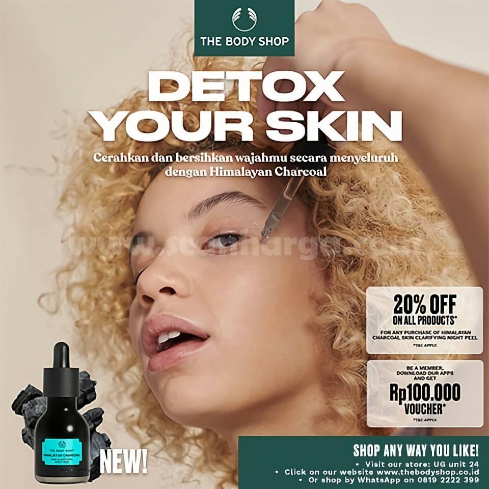 The Body Shop Promo New Himalayan Charcoal Detox Diskon 20%