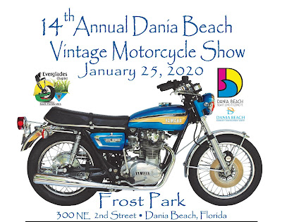 Dania Beach Vintage Motorcycle Show poster.