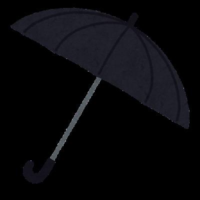 黒い傘のイラスト(開いた状態)