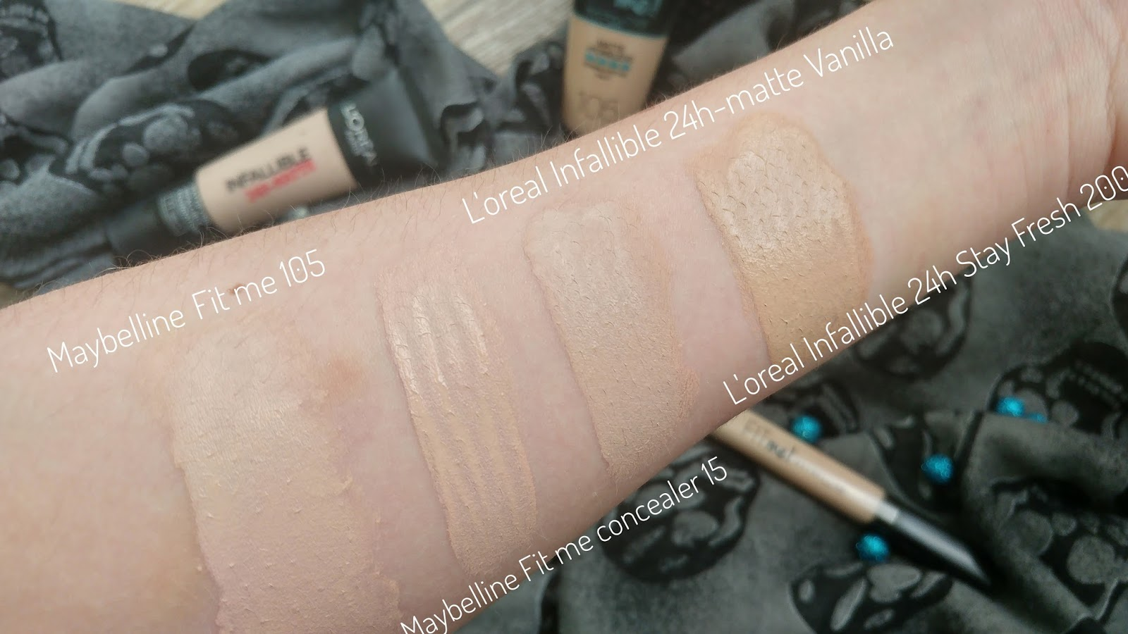 Review: Maybelline Fit Me Matte + Poreless 105 Natural Ivory ...