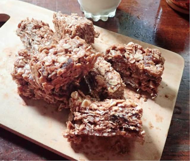 resep muesli peanut energy bars