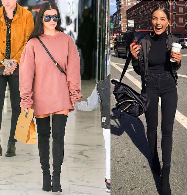 Looks de inverno 2019 Kourtney Kardashian, Olivia Culpo