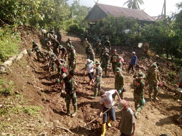 Lewat TMMD, Warga dan Prajurit TNI Bangun Semangat Gotong Royong