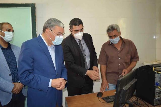 محافظ المنيا يتفقد عدد من مراكز التطعيم بلقاح فيروس كورونا ويتابع الخدمة الصحية بمستشفى الصدر