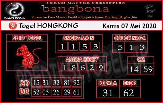 Prediksi HK 07 Mei 2020 - Bang Bona HK