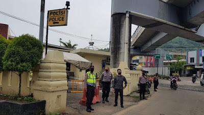 Dirresnarkoba Polda Banten Monitoring Posko Operasi Ketupat Kalimaya Tahun 2020 di cilegon