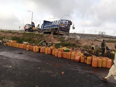 Eight passengers were killed when a truck fell off a bridge in Osun