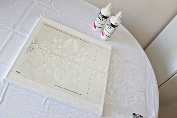DIY Damask Wall Art by Our Mini Family - Guest Post at The Everyday Home