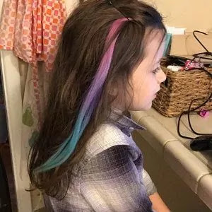 blue hair color for kids