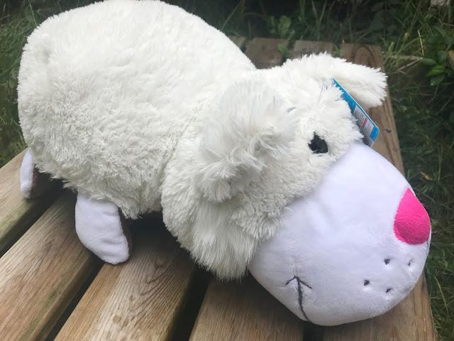 large white cat plush toy