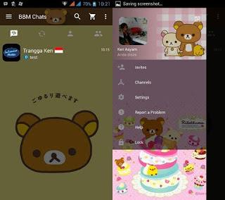 BBM MOD Rilakkuma v3.0.0.18 APK Terbaru 2016