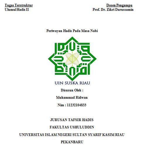 Contoh Cover Makalah Uin Suska Riau How To Aa