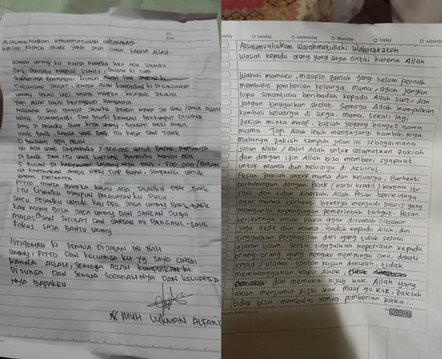 "Analisis Grafologi Sebut Ada ""Benang Merah"" Surat Wasiat Lukman dan Zakiah Aini"