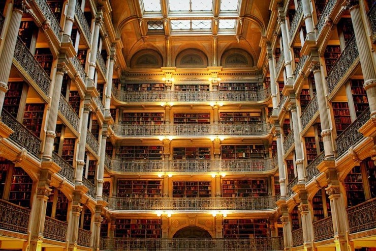 17. The George Peabody Library, Baltimore, USA - 31 Incredible Libraries and Bookstores Around the World