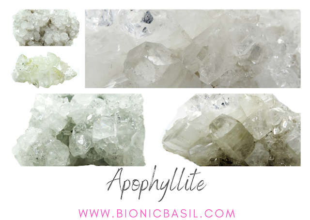 Colouring with Cats ©BionicBasil® Crystal of The Week - Apophyllite