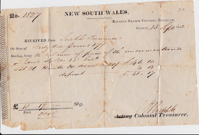 Treasure Chest Thursday - 1842 Receipt for Land Purchase