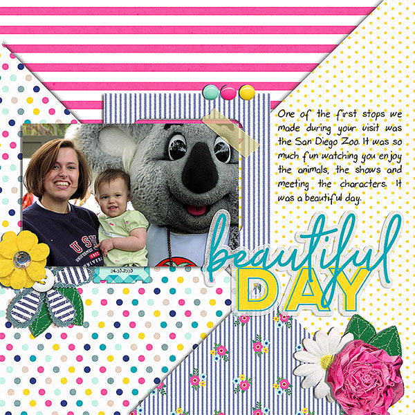 Digital Scrapbook Beautiful Day