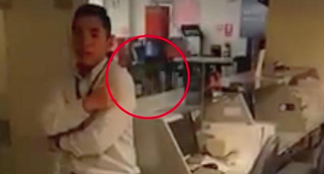 Susto! Aterrador suceso paranormal es captado en un banco