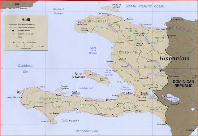 Gambar Peta politik Haiti