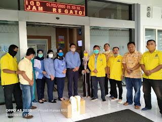 Partai Golkar Kota Mojokerto  Sumbang APD untuk Tiga Rumah Sakit di Mojokerto