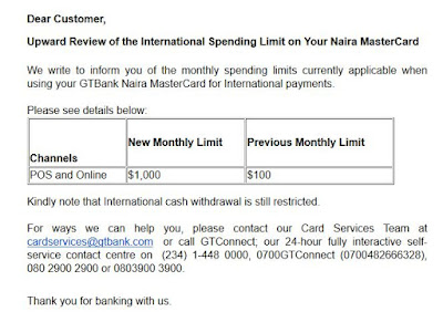 naira mastercard monthly spending