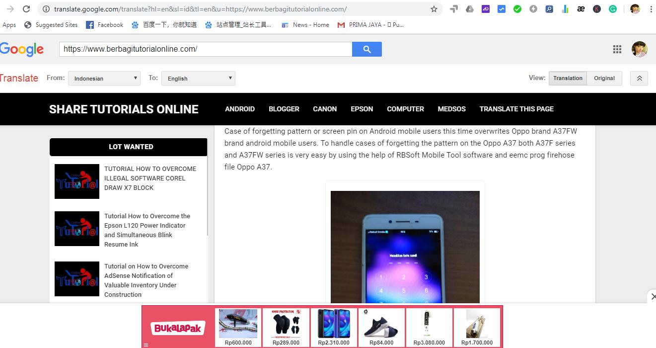 Tutorial Cara Memasang Google Translate Menu Header Blog Valid AMP