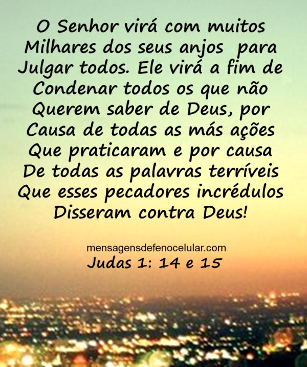 mensagem de deus para hoje judas 14 e 15
