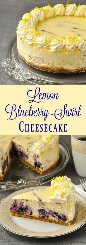Lemon Blueberry Swirl Cheesecak